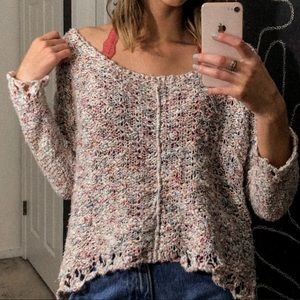 Multicolor knit free people sweater